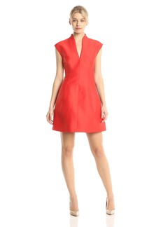 Halston Heritage Women's Silk Faille Cap-Sleeve Cocktail Dress