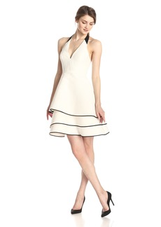 Halston Heritage Women's Silk Faille Halter Cocktail Dress