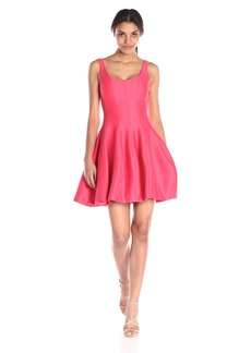 Halston Heritage Women's Silk Faille Tulip Dress