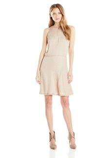 HALSTON HERITAGE Women's Silk Georgette Embellished Dress