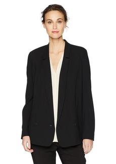 Halston Heritage Women's Sleeve Long Color Blocked Blazer