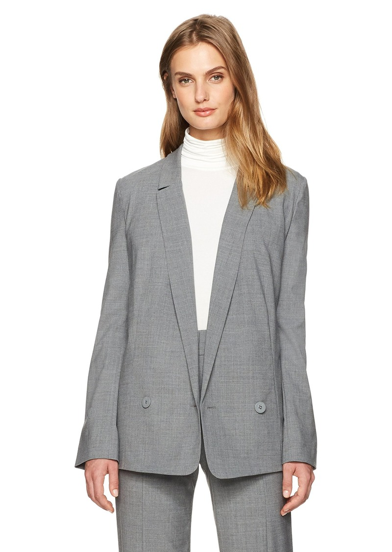 Halston Heritage Women's Sleeve Long Suiting Blazer  L