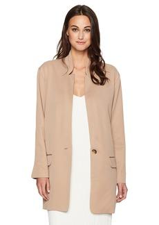 Halston Heritage Women's Sleeve Slim Long Jacket  XL