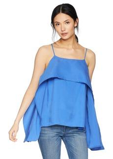 HALSTON HERITAGE Women's Sleeveless Cami Top with Flowy Drape