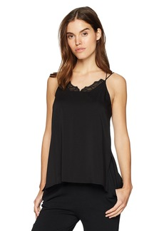 Halston Heritage Women's Sleeveless Cami with Applique  Extra Small