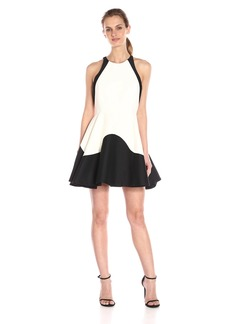 HALSTON HERITAGE Women's Sleeveless Color-Block Structured Dress