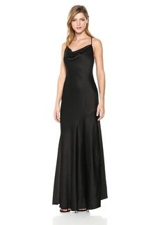 HALSTON HERITAGE Women's Sleeveless Cowl Neck Slip Gown