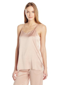 Halston Heritage Women's Sleeveless Double Strap Satin Cami  XL
