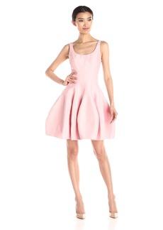 HALSTON HERITAGE Women's Sleeveless Dress with Structured Tulip Skirt