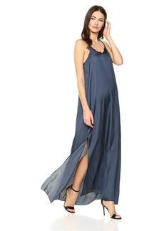 Halston Heritage Women's Sleeveless Flowy Maxi Dress with Applique