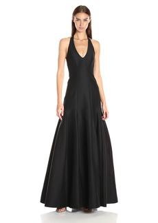 HALSTON HERITAGE Women's Sleeveless Halter Neck Gown with Tulip Skirt