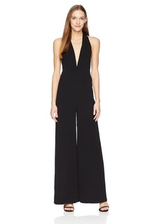 HALSTON HERITAGE Women's Sleeveless Halter Neck Jumpsuit with Strappy Back