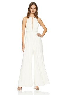 Halston Heritage Women's Sleeveless High Neck Flowy Jumpsuit