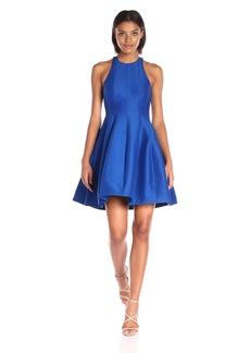 Halston Heritage Women's Sleeveless High Neck Jacquard Structured Dress