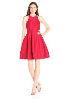 HALSTON HERITAGE Women's Sleeveless High Neck Structured Dress