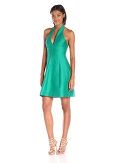 HALSTON HERITAGE Women's Sleeveless Organic Notch Neck Dress