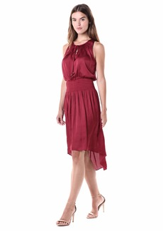 Halston Heritage Women's Sleeveless Round Neck Dress w/Keyhole  S