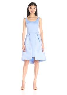 HALSTON HERITAGE Women's Sleeveless Round Neck Satin Faille Dress