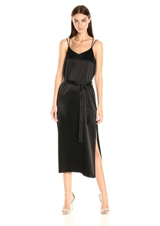 Halston Heritage Women's Sleeveless Satin Cami Slip Dress