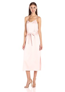HALSTON HERITAGE Women's Sleeveless Satin Cami Slip Dress  L