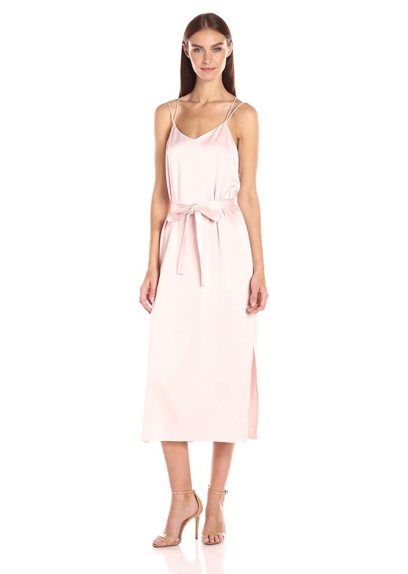Halston Heritage Women's Sleeveless Satin Cami Slip Dress  M