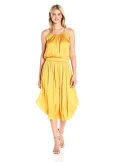 HALSTON HERITAGE Women's Sleeveless Shirred Jersey Midi Dress  S