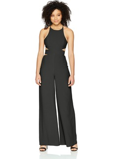 Halston Heritage Women's Sleeveless Side Cut Out Wide Leg Jumpsuit