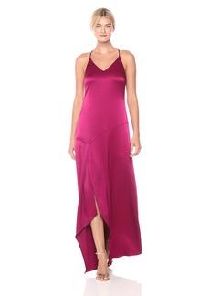 Halston Heritage Women's Sleeveless Slip Dress with Flowy Skirt
