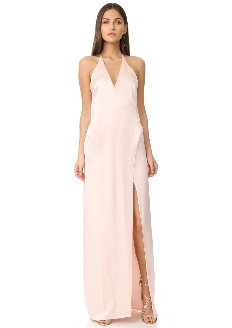 Halston Heritage Women's Sleeveless V Neck Slip Gown with T Back