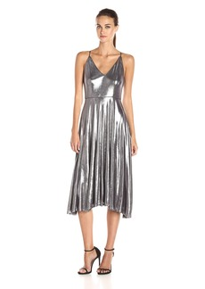 HALSTON HERITAGE Women's Sleevless Strappy V Neck Midi Dress