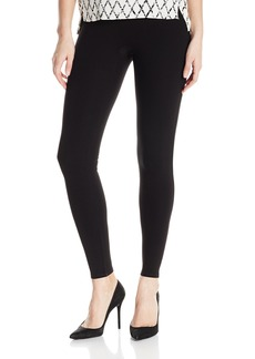 Halston Heritage Women's Slim Fit Ribbed Jersey Leggings  Extra Large