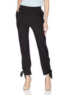 Halston Heritage Women's Slim Tapered Pant with Ties