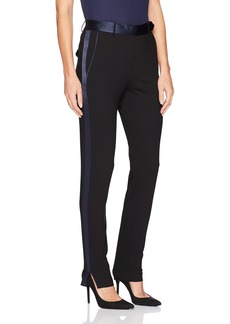 HALSTON HERITAGE Women's Slim Tapered Suiting Pants with Satin Inserts