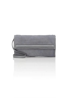 Halston Heritage Women's Small Suede Clutch - Gray