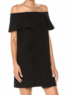 Halston Heritage Women's Ss Cold Shldr Asym Drape Dress