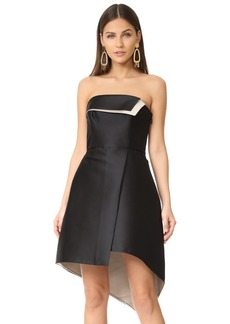 Halston Heritage Women's Strapless Color Blocked Structure Dress