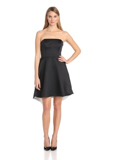 HALSTON HERITAGE Women's Strapless Colorblock Dress with Back Fold Detail