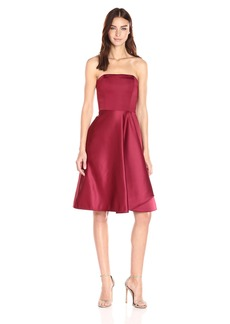 Halston Heritage Women's Strapless Dress with Flared Skirt