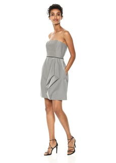 Halston Heritage Women's Strapless Dress with Folded Drape