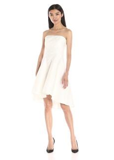 HALSTON HERITAGE Women's Strapless Jacquard Dress