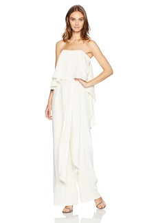 Halston Heritage Women's Strapless Jumpsuit with Flowy Back
