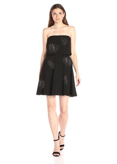 HALSTON HERITAGE Women's Strapless Rhinestud Embellished Dress