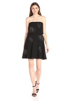 HALSTON HERITAGE Women's Strapless Rhinestud Embellished Dress