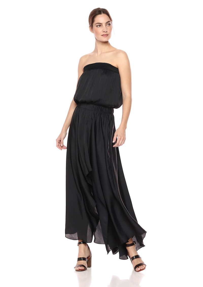Halston Heritage Women's Strapless Ruched Waist Handkerchief Gown
