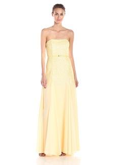Halston Heritage Women's Strapless Sequined Georgette Evening Dress