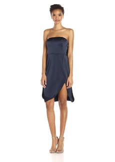 Halston Heritage Women's Strapless Slip Dress with Cape Back