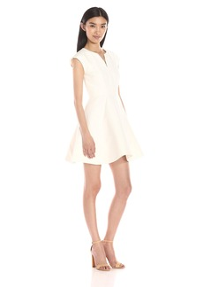 HALSTON HERITAGE Women's Structured Dress With Geo seams