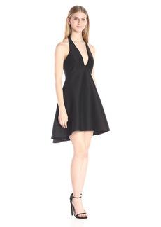 HALSTON HERITAGE Women's Structured Halter Cocktail Dress