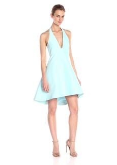 Halston Heritage Women's Structured Halter Cocktail Dress
