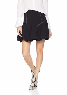 Halston Heritage Women's Tape Detail Flounce Skirt